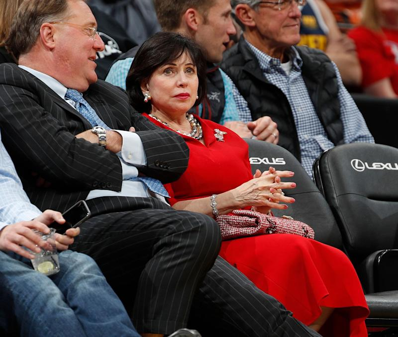 New Orleans Pelicans principal owner Gayle Benson in the second half of an  NBA basketball game 6036ca9bb