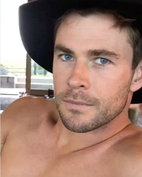 The 34-year-old Thor star has shared a fun clip of himself on social media, in which he poses shirtless, of course. Source: Instagram