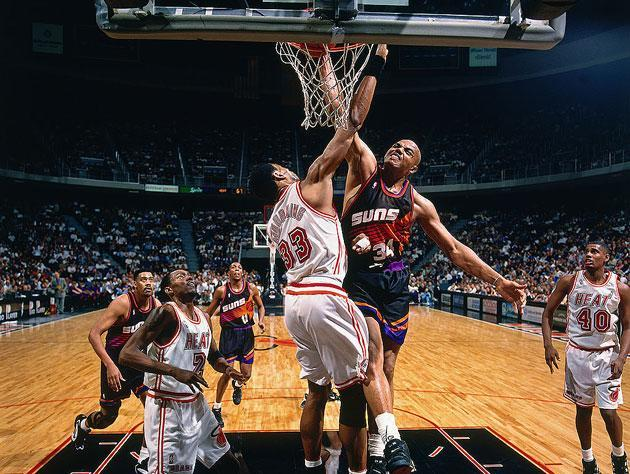 Charles Barkley throws down. (Getty Images)