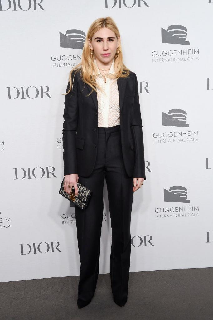 <p>Actress Zosia Mamet attended the star-studded event in a smart co-ord with a Dior clutch to finish. <em>[Photo: Getty]</em> </p>