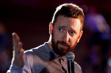 FILE PHOTO: Former rider Bradley Wiggins at Lee Valley VeloPark, Queen Elizabeth Olympic Park, London, Britain - October 26, 2018. REUTERS/Matthew Childs/File Photo
