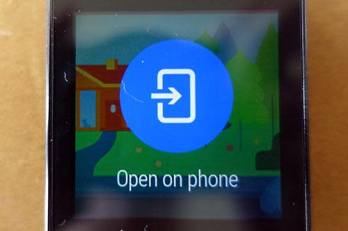 Watch displaying 'Open on phone' message