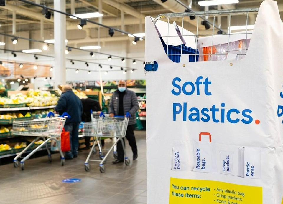 Shoppers will now be able to recycle soft plastic packaging at Tesco (Tesco/PA)