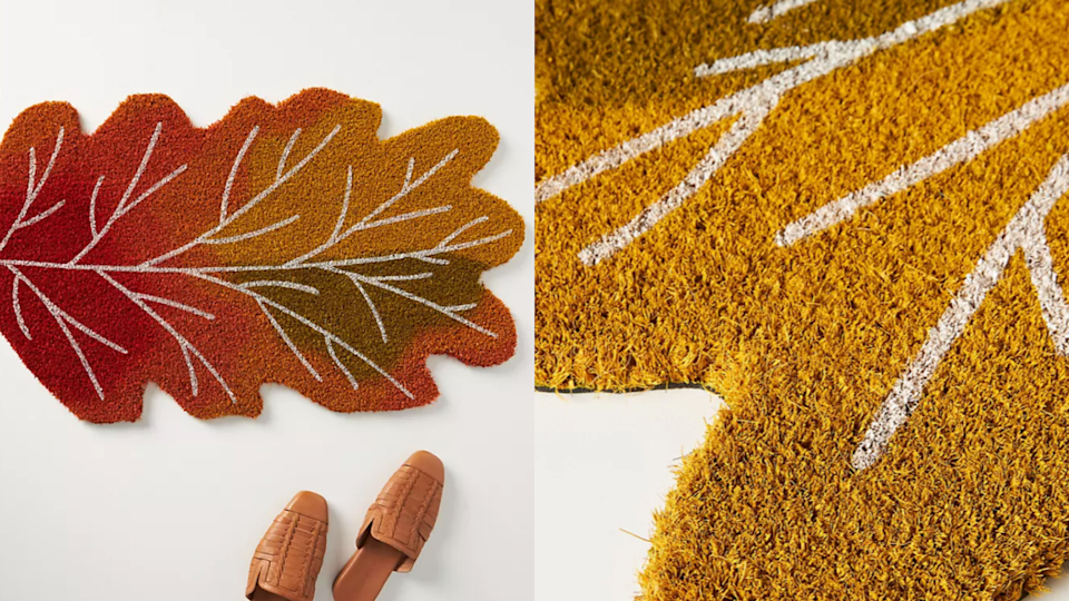 We can't think of a more adorable doormat for the home this fall.