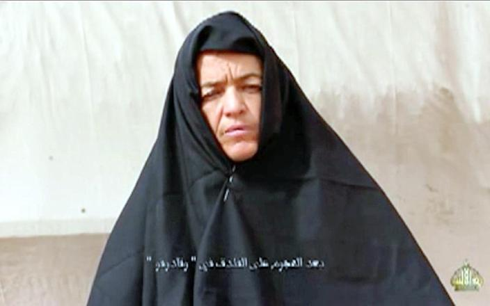 This video grab made on January 27, 2016 from a video received by Private Mauritanian news agency Al-Akhbar from the Al-Qaeda-linked Emirate of the Sahara group shows Swiss woman Beatrice Stockly speaking while abducted in an unlocated location (AFP Photo/)