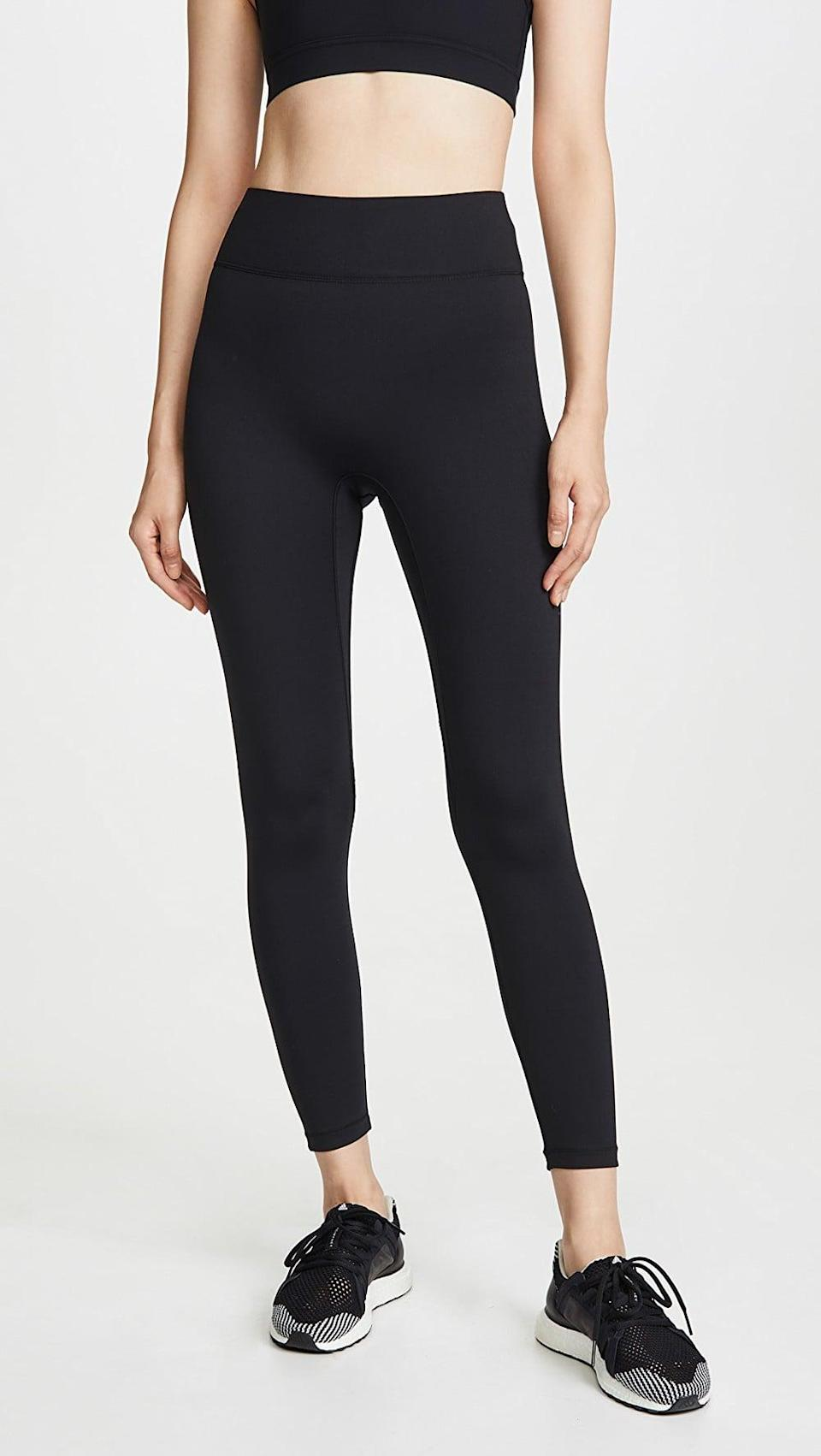 <p>If you're looking for the ideal black leggings, meet the <span>All Access Center Stage Leggings</span> ($98). They're sleek, hold you in, and fit in with every activity, from pilates to boxing.</p>
