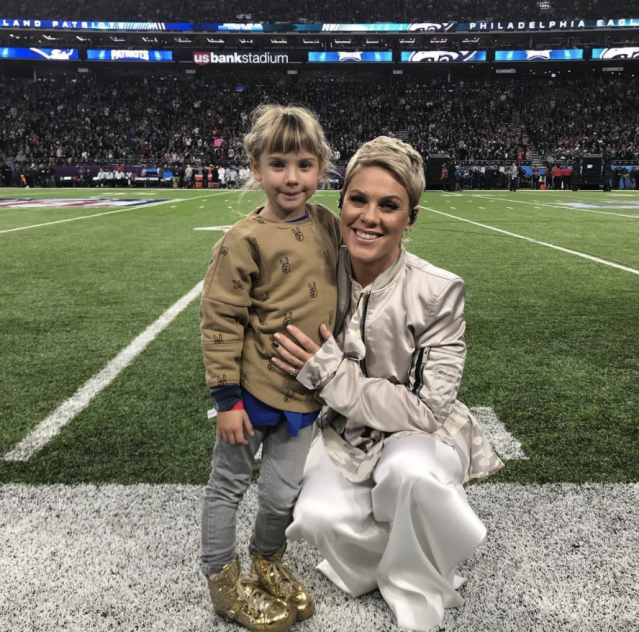 "<p>""I am beyond proud of this woman,"" Pink's husband captioned this photo of his wife, with daughter Willow, at the Super Bowl, where the Grammy winner performed the national anthem, while battling the flu. ""The roller coaster that she went through this last week with getting sick and losing her voice would have broke any ordinary person. She laced up her boots, got through a 90 minute set Friday night, and f***ing killed the Super Bowl today. Oh and sang live by the way. She is the hardest working in show business and I couldn't be more proud of her. You f***ing rule, baby."" (Photo: <a href=""https://www.instagram.com/p/BeyyiCDj3sV/?taken-by=hartluck"" rel=""nofollow noopener"" target=""_blank"" data-ylk=""slk:Carey Hart via Instagram"" class=""link rapid-noclick-resp"">Carey Hart via Instagram</a>) </p>"