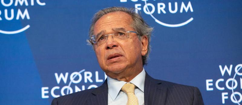 """86608608_Paulo Guedes Minister of Economy of Brazil speaking at the """"Shaping the Future of Advanced.jpg"""