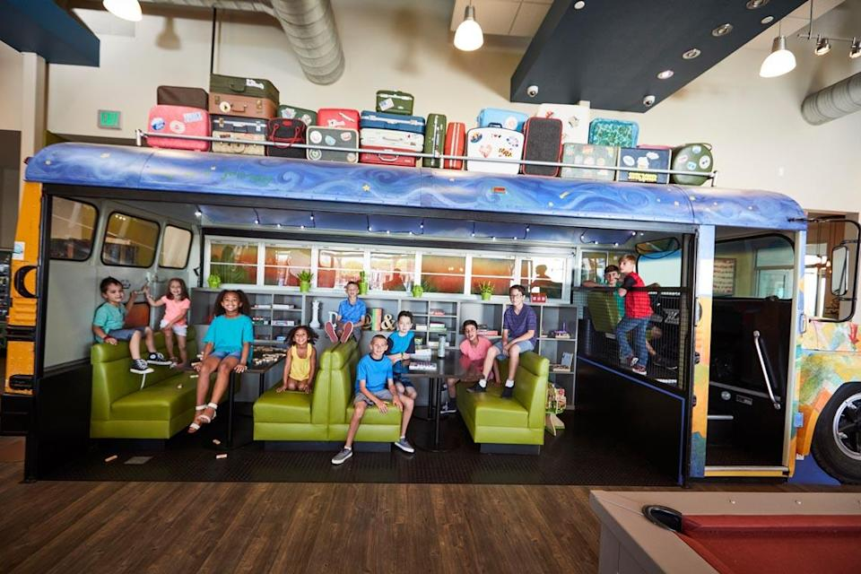 Eastmark in Phoenix transformed a school bus into a social spot for kids (Source: DMB Mesa Proving Grounds, LLC.)