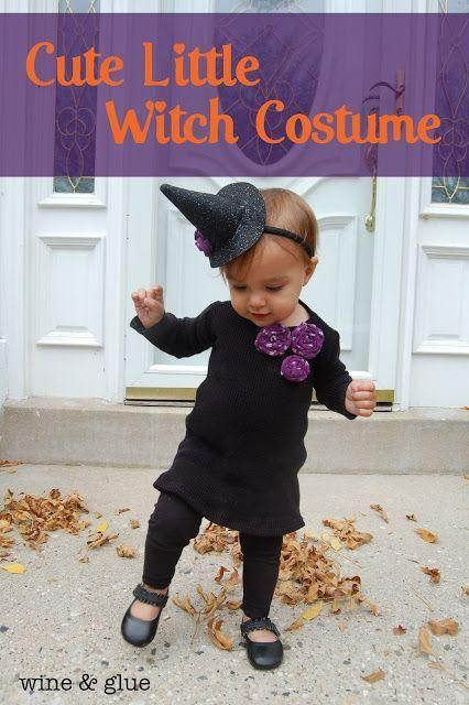 """<p>Craft a tiny witch hat for your tiny tot to turn a simple black dress and leggings outfit into a Halloween-ready costume. </p><p><strong>Get the tutorial at <a href=""""https://www.wineandglue.com/cute-little-witch-costume/"""" rel=""""nofollow noopener"""" target=""""_blank"""" data-ylk=""""slk:Wine & Glue"""" class=""""link rapid-noclick-resp"""">Wine & Glue</a>. </strong> </p><p><a class=""""link rapid-noclick-resp"""" href=""""https://www.amazon.com/Lurrose-Headband-Halloween-Hairband-Accesory/dp/B07VRC58MH/?tag=syn-yahoo-20&ascsubtag=%5Bartid%7C10050.g.28304812%5Bsrc%7Cyahoo-us"""" rel=""""nofollow noopener"""" target=""""_blank"""" data-ylk=""""slk:SHOP HEADBAND WITCH HATS"""">SHOP HEADBAND WITCH HATS</a></p>"""