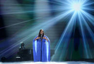 Mickey Guyton performs at the 56th annual Academy of Country Music Awards on Friday, April 16, 2021, at the Grand Ole Opry in Nashville, Tenn. The awards show airs on April 18 with both live and prerecorded segments. (AP Photo/Mark Humphrey)