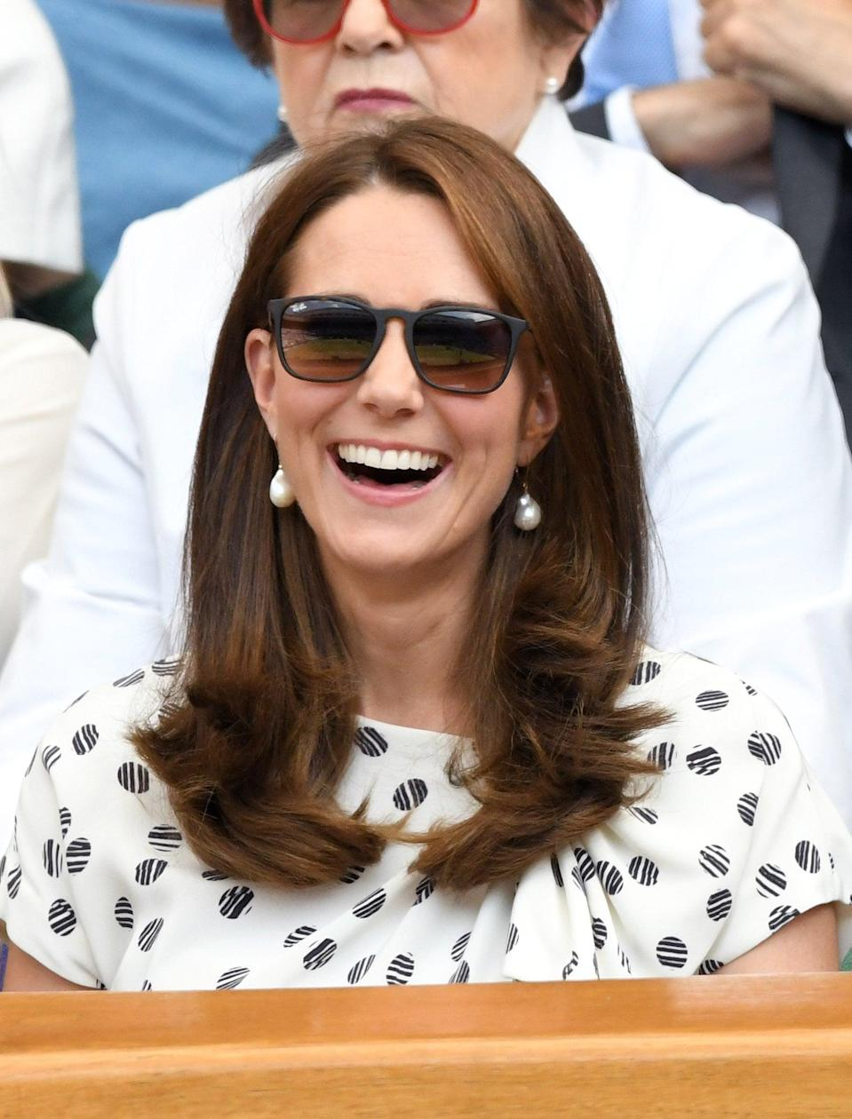 <p>To show off her defined layers in all their glory, Middleton wore her hair straighter than usual for a day at the tennis.</p>
