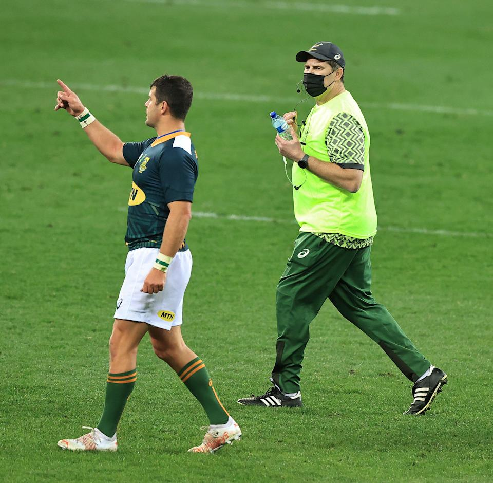 Director of rugby Rassie Erasmus will continue his role as water carrier (Getty Images)