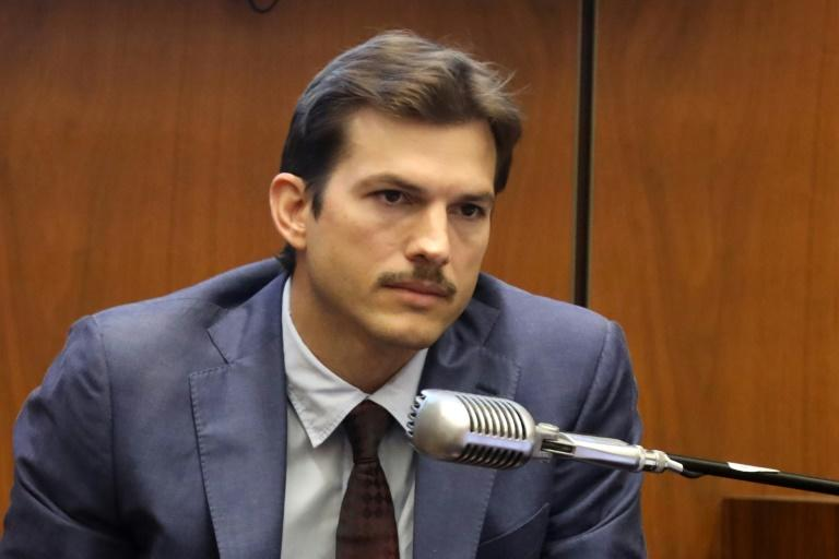 Ashton Kutcher, shown testifying at the Los Angeles trial of Michael Gargiulo, had been due to go on a date with one of the victims the night she was murdered (AFP Photo/Frederick M. Brown)