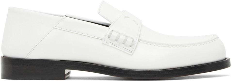 """<br><br><strong>Maison Margiela</strong> White Slip-On Loafers, $, available at <a href=""""https://go.skimresources.com/?id=30283X879131&url=https%3A%2F%2Fwww.ssense.com%2Fen-us%2Fwomen%2Fproduct%2Fmaison-margiela%2Fwhite-slip-on-loafers%2F5579911"""" rel=""""nofollow noopener"""" target=""""_blank"""" data-ylk=""""slk:SSENSE"""" class=""""link rapid-noclick-resp"""">SSENSE</a>"""