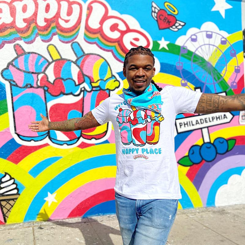 Founder Lemeir Mitchell outside of the new brick-and-mortar Happy Ice in Los Angeles