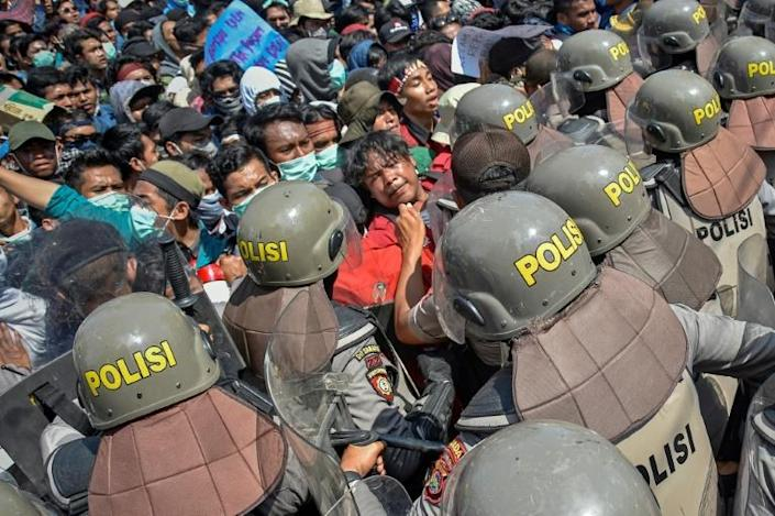 The protests across Indonesia were among the biggest student rallies since the Suharto dictatorship was toppled in 1998 (AFP Photo/ARSYAD ALI)