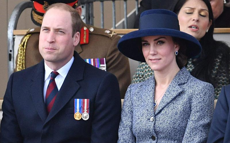 The Duke and Duchess of Cambridge at the memorial service - Credit: Rex