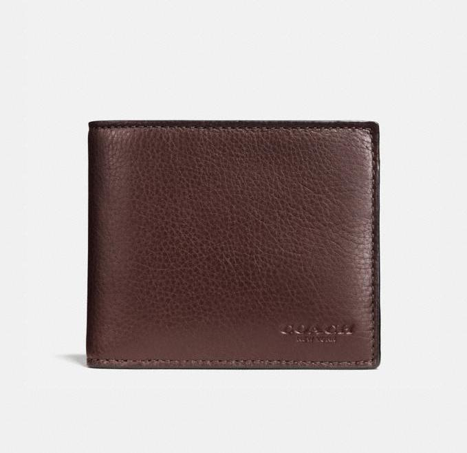 Compact Id Wallet. Image via Coach Outlet.