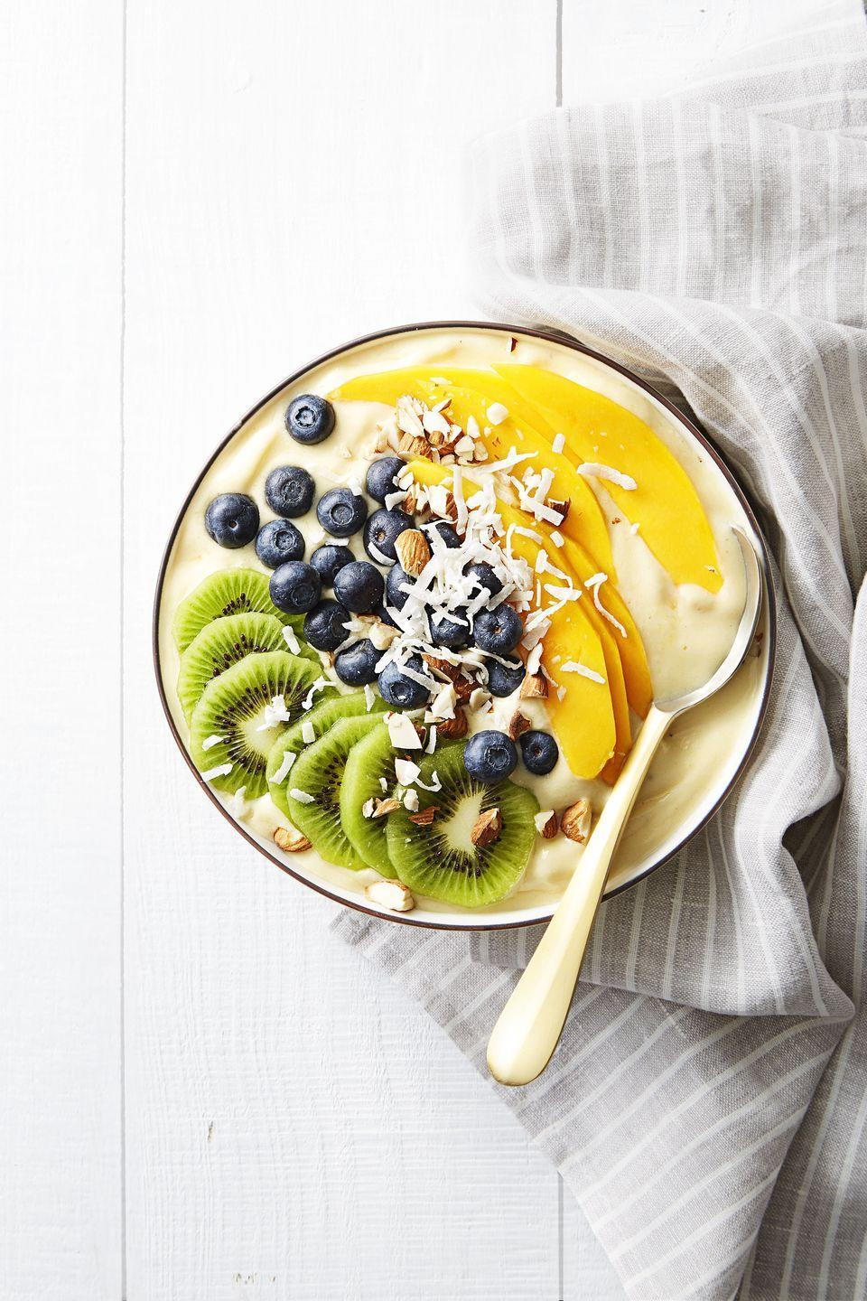 "<p>This bowl is begging to be Instagrammed and takes all of 10 seconds in the <a href=""https://www.goodhousekeeping.com/appliances/blender-reviews/g4864/best-blender-reviews/"" rel=""nofollow noopener"" target=""_blank"" data-ylk=""slk:blender"" class=""link rapid-noclick-resp"">blender</a>.</p><p><a href=""https://www.goodhousekeeping.com/food-recipes/a38877/tropical-smoothie-bowl-recipe/"" rel=""nofollow noopener"" target=""_blank"" data-ylk=""slk:Get the recipe for Tropical Smoothie Bowl »"" class=""link rapid-noclick-resp""><em>Get the recipe for Tropical Smoothie Bowl » </em></a><br></p>"