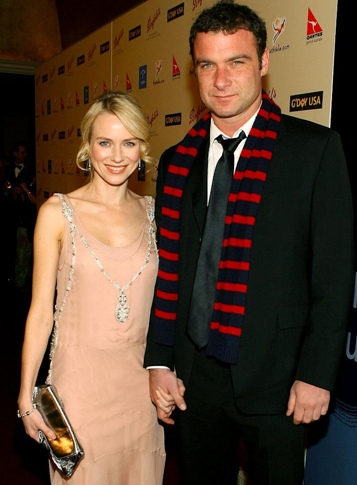 "Naomi Watts and Liev Schreiber don't need a marriage certificate to confirm their love. John Shearer/<a href=""http://www.wireimage.com"" target=""new"">WireImage.com</a> - January 13, 2007"