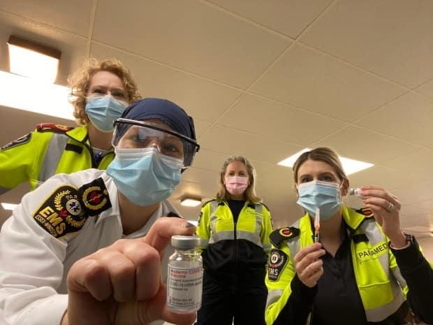 Essex-Windsor EMS have received doses of the Moderna COVID-19 vaccine and are heading out into the community to vaccinate seniors who are unable to leave their homes.  (Submitted by Essex-Windsor EMS - image credit)
