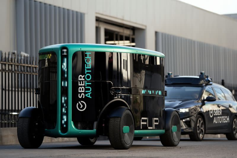 Handout image of fully self-driving vehicle FLIP developed by Sberbank