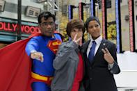 "<p>In 2010, ""Halloween on the Plaza"" was all about honoring the pop-culture icons of the times, which included Superman (Al), Justin Bieber (Natalie), and former President Barack Obama (Tamron). </p>"