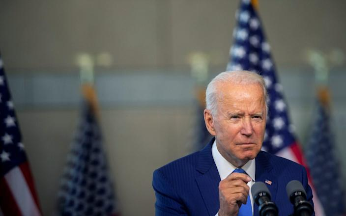 Joe Biden said Donald Trump was abusing his position by taking the action so close to an election - Reuters