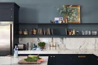 """<p>Spending more time in the kitchen than ever before also leads to typical wear and tear happening in light speed. So using heavy-duty materials and finishes has become more important than ever. <a href=""""https://www.farrow-ball.com/en-us"""" rel=""""nofollow noopener"""" target=""""_blank"""" data-ylk=""""slk:Farrow & Ball"""" class=""""link rapid-noclick-resp"""">Farrow & Ball</a>'s new Modern Emulsion paint finish is washable and is extra durable, making it perfect for both kitchen walls and even the cabinets themselves.</p>"""