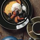 """If you don't want to make your own buttermilk ice cream, feel free to swap in <a href=""""https://www.epicurious.com/expert-advice/the-best-store-bought-vanilla-ice-cream-article?mbid=synd_yahoo_rss"""" rel=""""nofollow noopener"""" target=""""_blank"""" data-ylk=""""slk:store-bought vanilla"""" class=""""link rapid-noclick-resp"""">store-bought vanilla</a>. <a href=""""https://www.epicurious.com/recipes/food/views/orange-polenta-cake-with-vanilla-scented-plums-and-blackberries-and-buttermilk-ice-cream-360273?mbid=synd_yahoo_rss"""" rel=""""nofollow noopener"""" target=""""_blank"""" data-ylk=""""slk:See recipe."""" class=""""link rapid-noclick-resp"""">See recipe.</a>"""