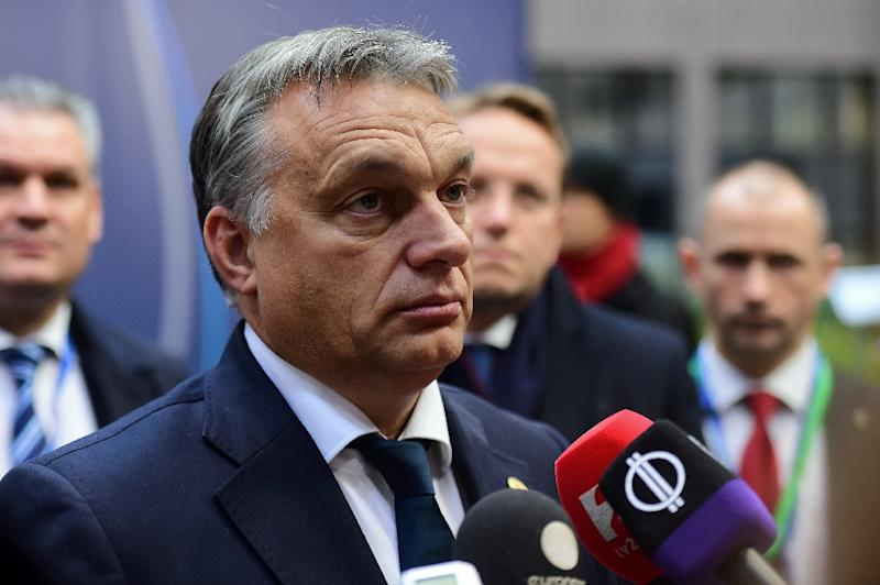 Hungarian Prime Minister Viktor Orban arrives for a European Union (EU) summit dominated by the migration crisis at the European Council in Brussels, on October 15, 2015