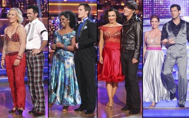 Martina Navratilova and Tony Dovolani, Gladys Knight and Tristan MacManus, Karina Smirnoff and Gavin DeGraw, Melissa Gilbert and Maksim Chmerkovskiy -- ABC