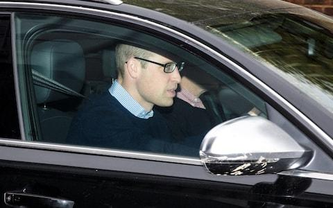 Prince William leaves Kensington Palace by car on Tuesday afternoon - Credit: Jack Taylor /Getty