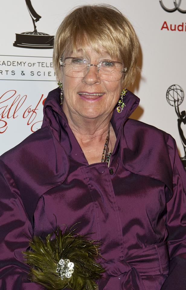 "Emmy-winning actress <a href=""http://tv.yahoo.com/news/desperate-housewives-kathryn-joosten-dies-72-180325257.html"">Kathryn Joosten</a> passed away on June 1 from lung cancer; she was 72. Joosten didn't start pursuing an acting career until age 42, but she still built an admirable career, co-starring on ""The West Wing"" as President Bartlet's secretary Mrs. Landingham before earning two Emmys as cranky neighbor Karen McCluskey on ABC's ""Desperate Housewives."""