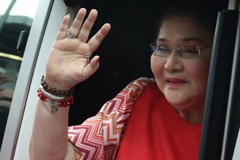 Marcos family matriarch and former first lady Imelda has said she dreams of her son becoming the country's leader (AFP/Ted ALJIBE)