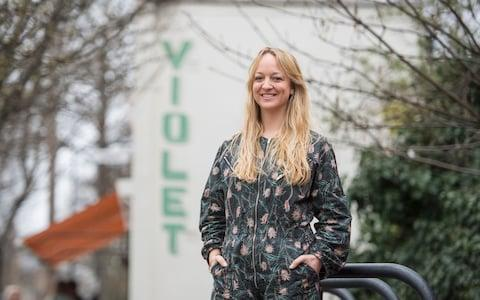 Claire Ptak, owner of Violet Bakery in Hackney, east London - Credit: Victoria Jones/PA