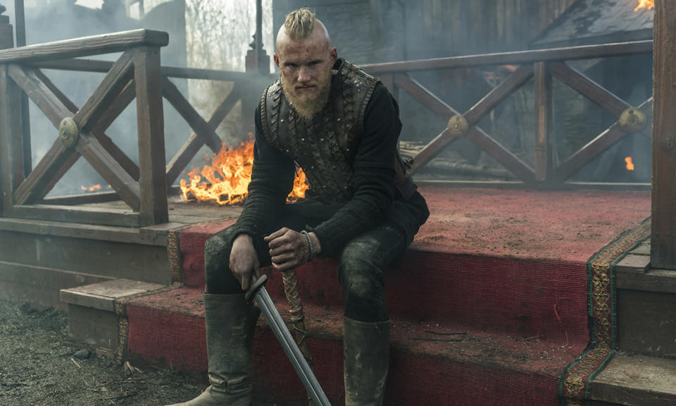 <p>Pillaging and mohican hairdos are all the rage in this mud-filled series that will soon air its sixth season.<br>Photo: Sky </p>