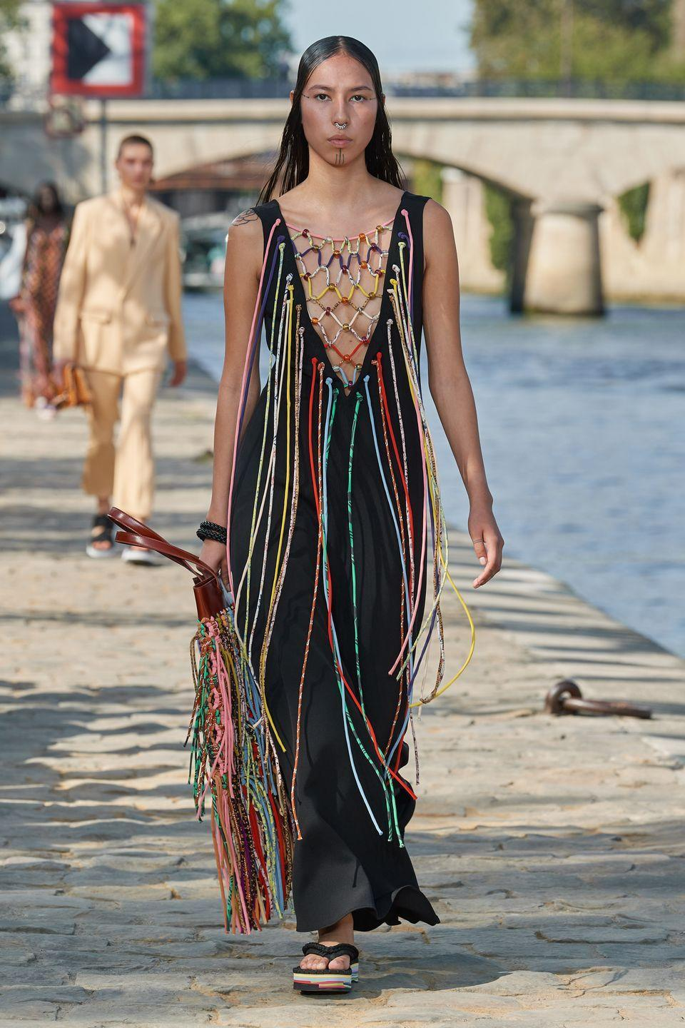 <p>Quannah Chasinghorse walked in Gabriela Hearst, Prabal Gurung, and Jonathan Simkhai at New York Fashion Week. But she really hit her (catwalk) stride in Paris. The 19-year-old Indigenous model is Hän Gwich'in and Oglala Lakota, and made an appearance both at Chloé and Chanel. Chasinghorse is also a fourth-generation land protector for the Arctic National Wildlife Refuge, part of the Alaska Wilderness League. </p>