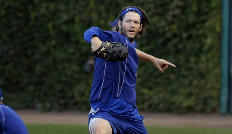 Clayton Kershaw will start Sunday's Game 2 for the Dodgers. (AP)
