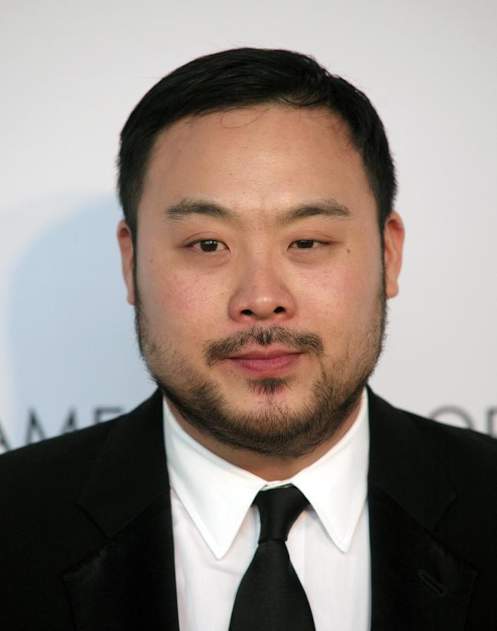 Restaurateur David Chang attends the 2014 James Beard Foundation Awards on Monday, May 5, 2014, in New York. (Photo by Andy Kropa/Invision/AP)