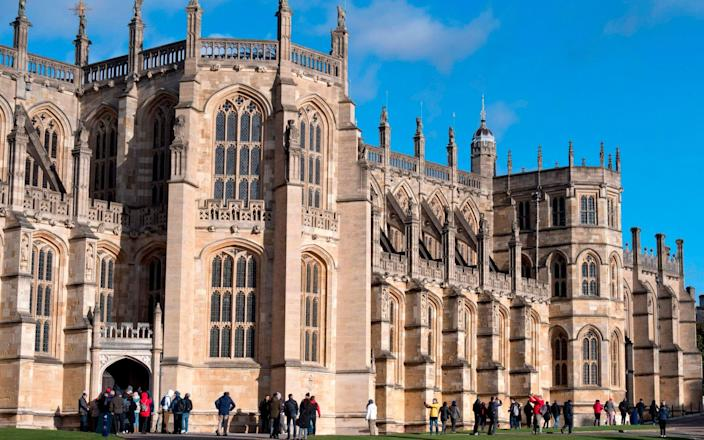 St George's Chapel was open to visitors before Covid - AFP