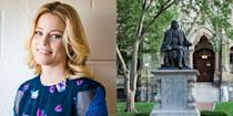 """<p><strong>University of Pennsylvania </strong></p><p>Banks <span class=""""redactor-invisible-space"""">graduated magna cum laude from the University of Pennsylvania with a major in communications and a minor in theater arts</span>. While there, <span class=""""redactor-invisible-space"""">she was a member of the Delta Delta Delta sorority. </span><span class=""""redactor-invisible-space"""">She then</span> continued her schooling at the American Conservatory Theater in San Francisco, where she earned her MFA. <br></p>"""