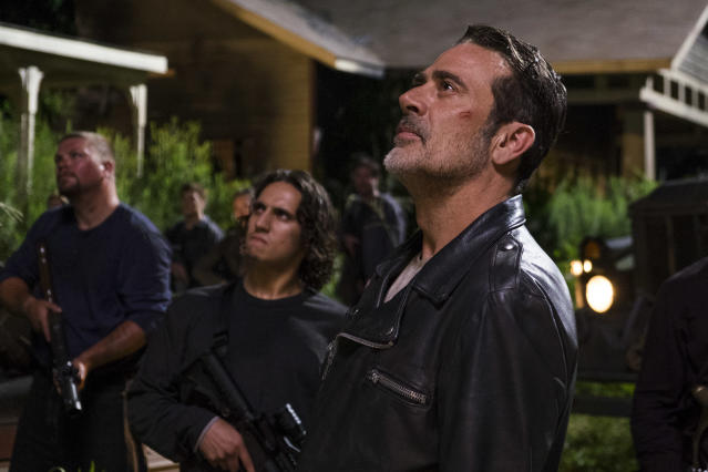 <p>Jeffrey Dean Morgan as Negan, Saviors in AMC's <i>The Walking Dead</i>.<br>(Photo: Gene Page/AMC) </p>