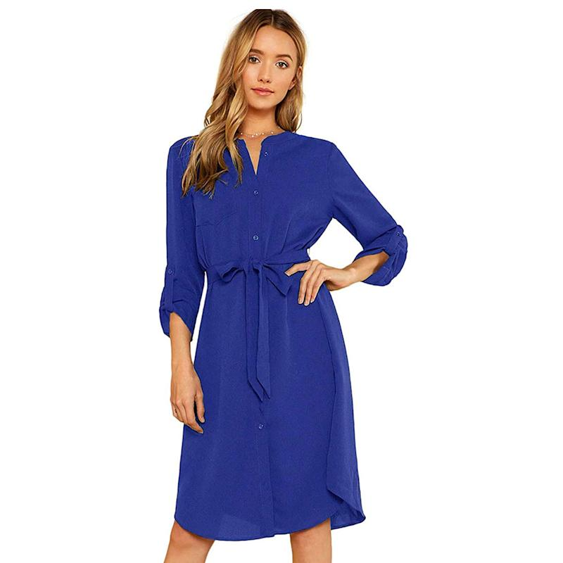 The knee-length dress will pair well with tights and boots during the cooler months. (Photo: Amazon)