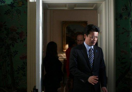 Japanese Foreign Minister Koichiro Gemba is seen during the G8 Foreign Ministers Summit at Blair House in Washington, DC. Foreign ministers of the Group of Eight major economies on Thursday demanded that North Korea drop its plans to launch a rocket and pressed the communist state to abandon its nuclear weapons