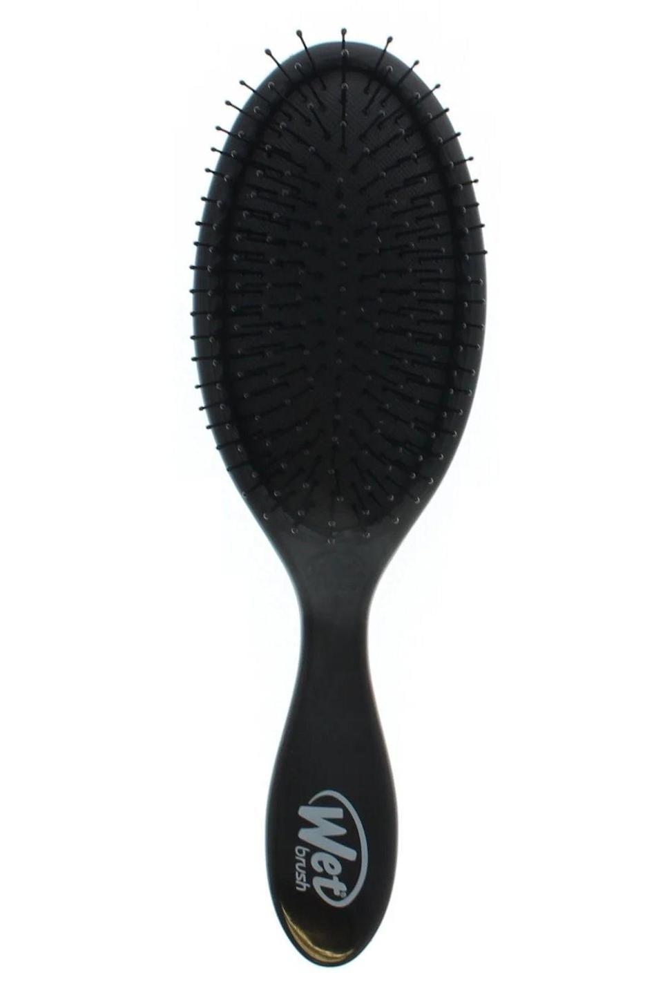 "<p><strong>Wet Brush</strong></p><p>amazon.com</p><p><strong>$7.49</strong></p><p><a href=""https://www.amazon.com/dp/B07CX8LMSJ?tag=syn-yahoo-20&ascsubtag=%5Bartid%7C10049.g.30017766%5Bsrc%7Cyahoo-us"" rel=""nofollow noopener"" target=""_blank"" data-ylk=""slk:Shop Now"" class=""link rapid-noclick-resp"">Shop Now</a></p><p><a href=""https://www.cosmopolitan.com/style-beauty/beauty/a9914838/hairstyles-for-wet-hair/"" rel=""nofollow noopener"" target=""_blank"" data-ylk=""slk:Wet hair"" class=""link rapid-noclick-resp"">Wet hair</a> is more prone to breakage, so you need to be extra careful when detangling and brushing your hair straight from the shower. That's where the Wet Brush comes in. It has soft, flexible bristles that are <strong>designed to glide through wet hair and knots with minimal force.</strong></p>"