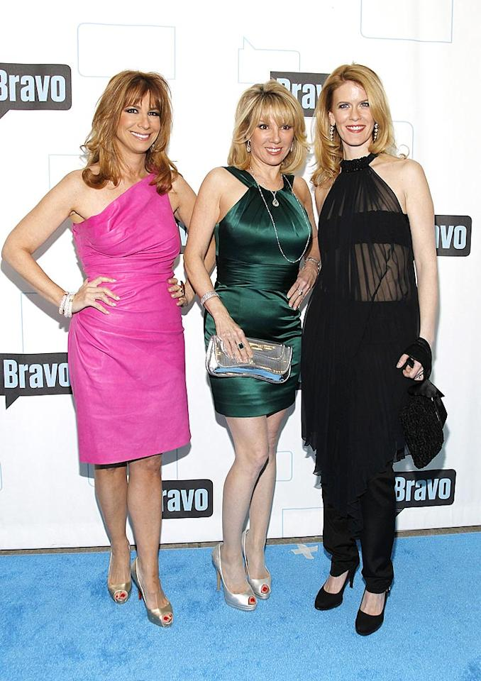 "Bethenny's co-stars, Jill Zarin, Ramona Singer, and Alex McCord, made an awkward trio. Mark Von Holden/<a href=""http://www.wireimage.com"" target=""new"">WireImage.com</a> - March 10, 2010"