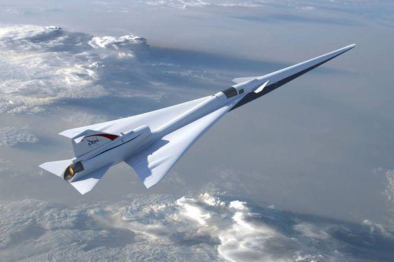 A NASA conception of a supersonic plane