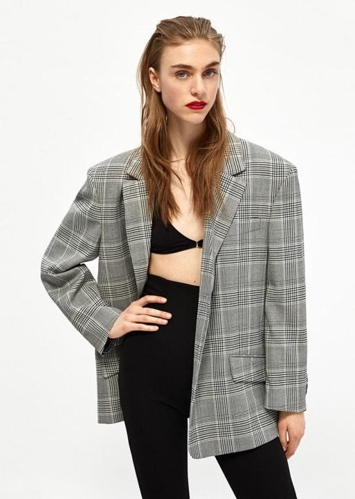 Zara Oversized Checked Jacket, $169; at Zara